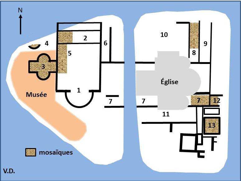 Plan du site de Montcaret