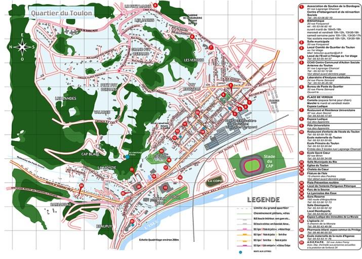 Plan du quartier du Toulon