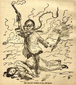 The Yellow Terror in all his glory, 1899 editorial cartoon