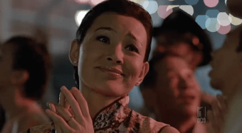 The radiant Joan Chen, happy on Serangoon Road