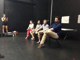 Q&A panel - Annette Shun Wah, Teik Kim Pok, Chris Kohn (Diversity Associate from Queensland Theatre Company), Glynn Roberts (Program Manager at La Boite).  Photo: Ellie Freeman