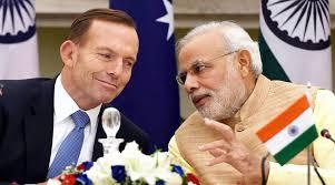 Narendra Modi with Australian Prime Minister Tony Abbott