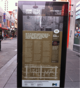 'Home Style Cook Shops', near the corner of Little Bourke and Swanston.