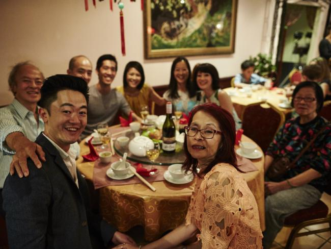 Benjamin Law and his IRL Family, cameos for Ep 1. (Source: SBS)