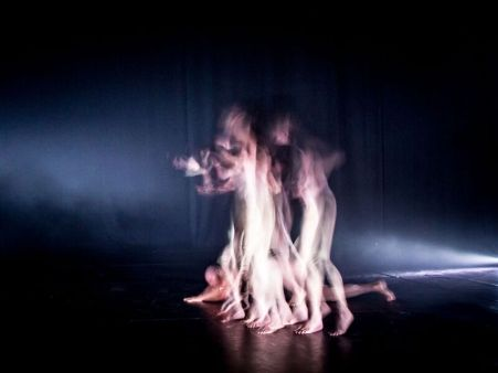 Left to right: Gregory Lorenzuttie, Melanie Lane, Lillian Steiner in Night Dance. Credit: Arts House