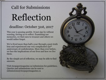 Ricepaper Magazine Poster - reflection - call for submissions