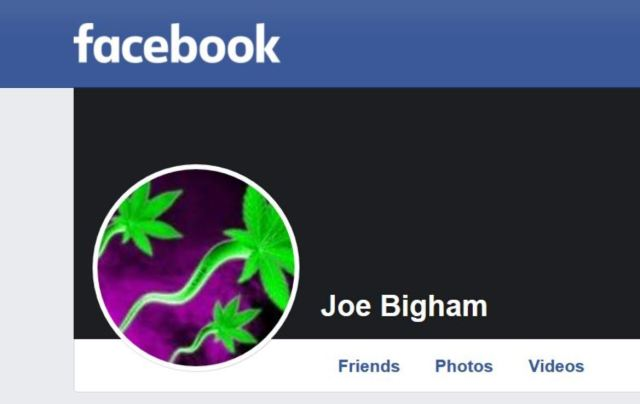 Header photo of Page Police Department's undercover Facebook persona, Joe Bigham