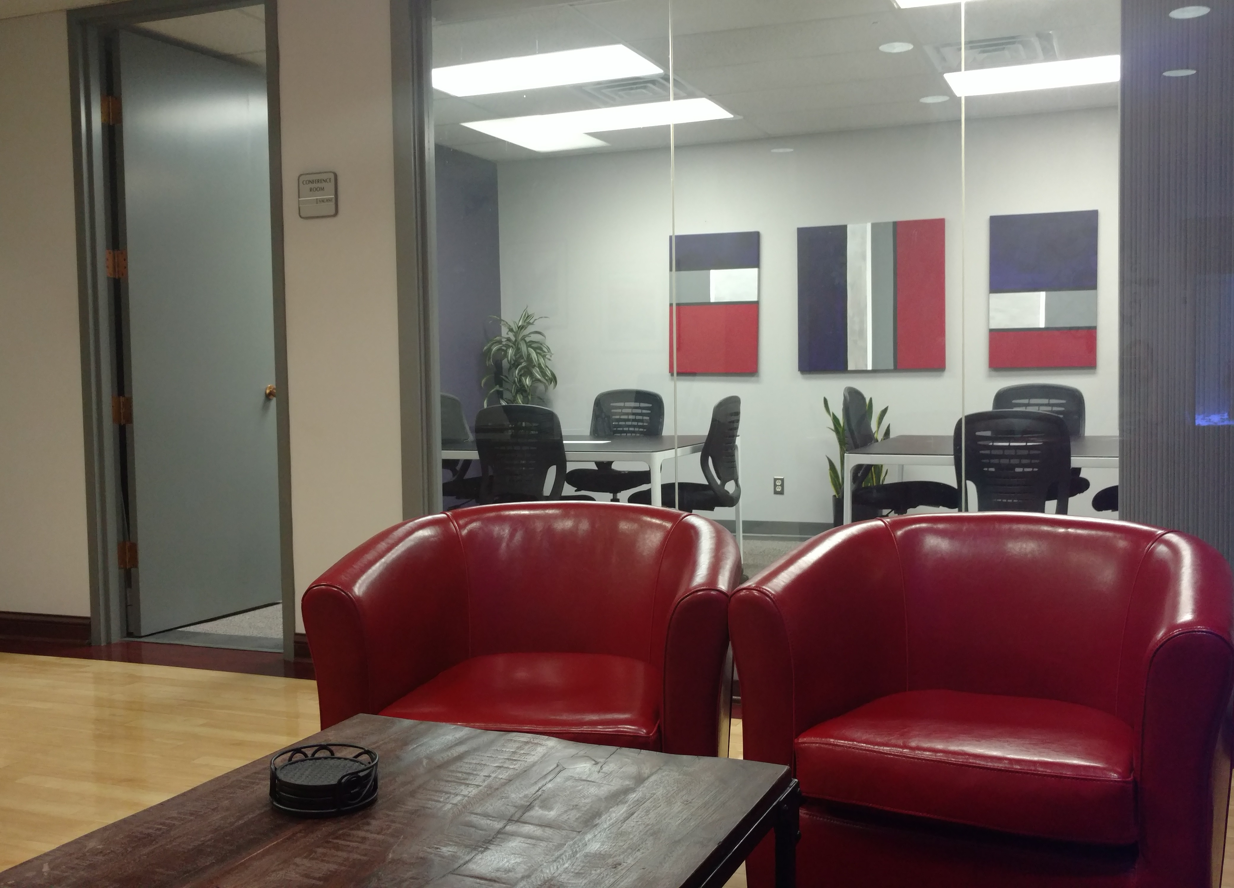 Nashville Office Space Reception Area And Meeting Room