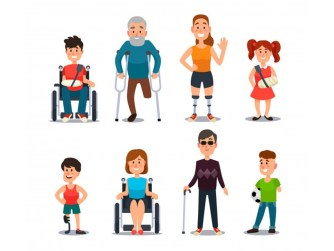 Distintas discapacidades en niñas y niños mujeres y hombres