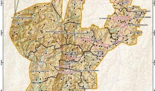 Mapa del norte de Jalisco
