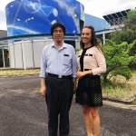 Valery Danko poses with Professor Naoki Shinohara