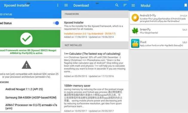 Cara Install Xposed Android Nougat