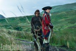 OUTLANDER Season 3 Sam Heughan (Jamie Fraser), David Berry (Lord John William Grey