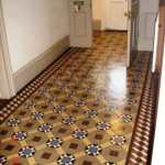 Victorian floor in the hallway