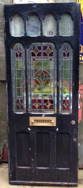 Stained glass Victorian - Edwardian front door