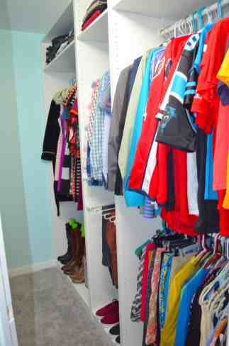 entire finished closet