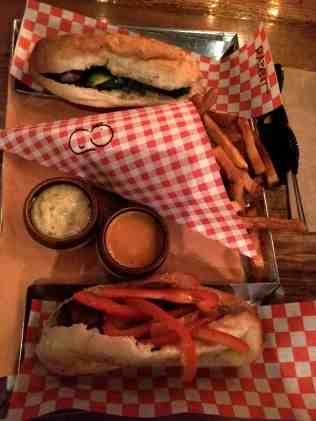 sausages and fries at WVRST