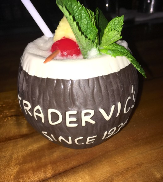 closeup of a Trader Vic's drink