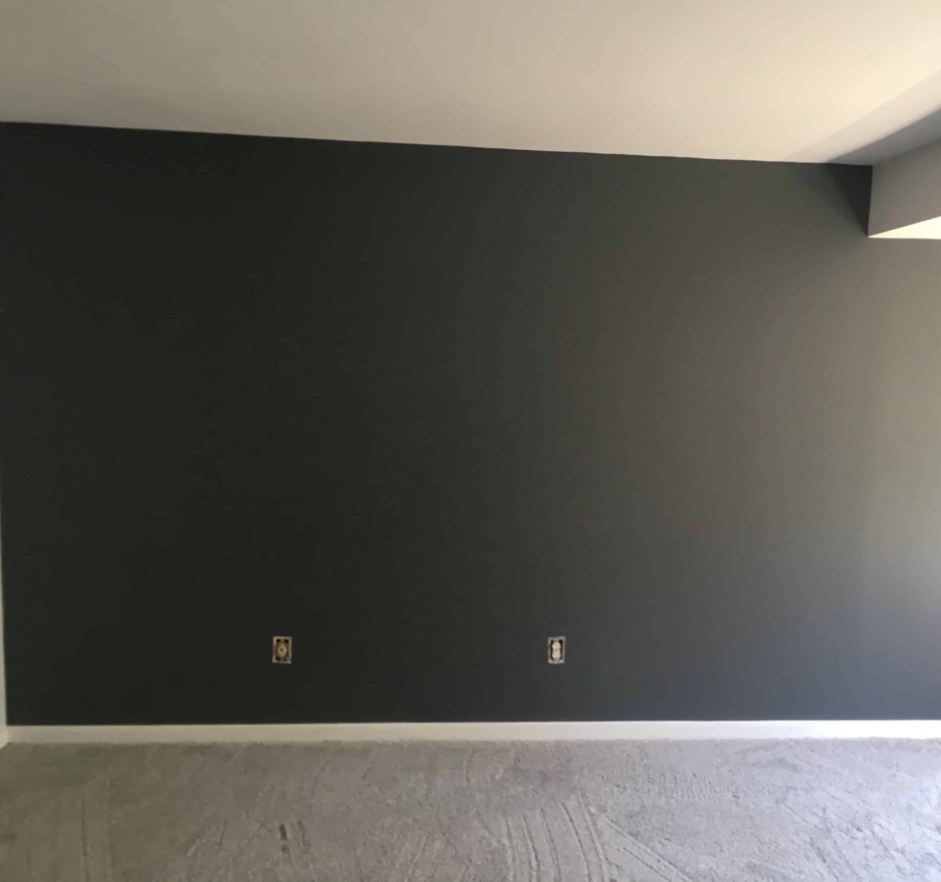 slate gray accent wall