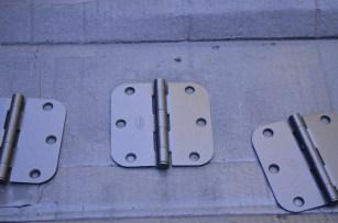 painted hinges