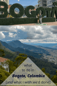 The best things to do in Bogota including beer, coffee, and dessert. Also what I regret not doing in the city. #bogota #bogotatravel #colombiatravel