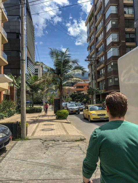 the streets of Bogota