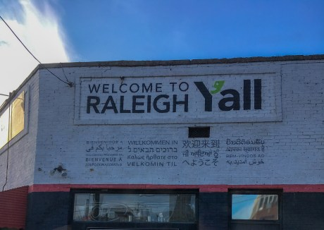 Welcome to Raleigh, NC sign