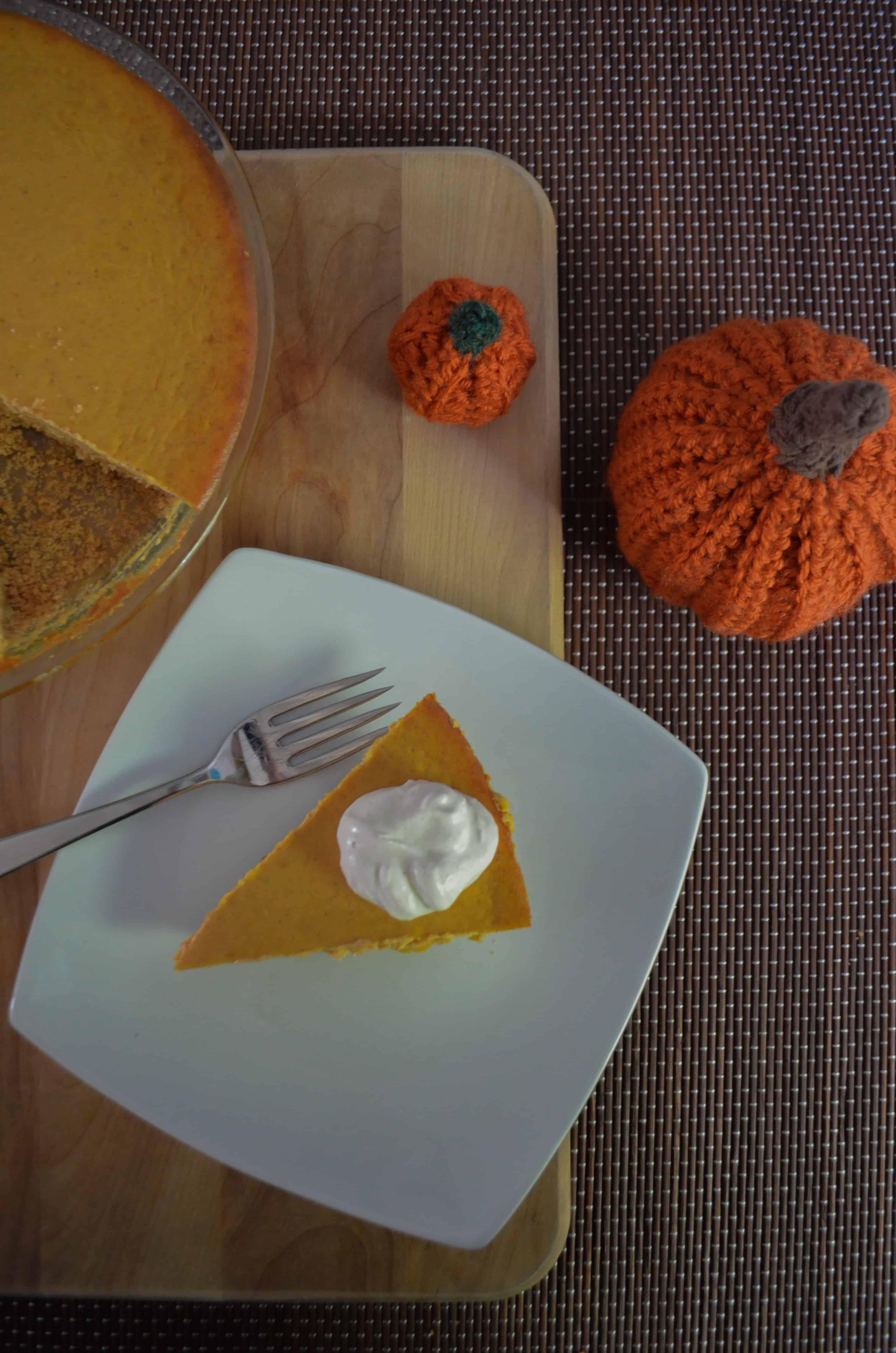 Pumpkin cheesecake is the ultimate fall guilty pleasure.