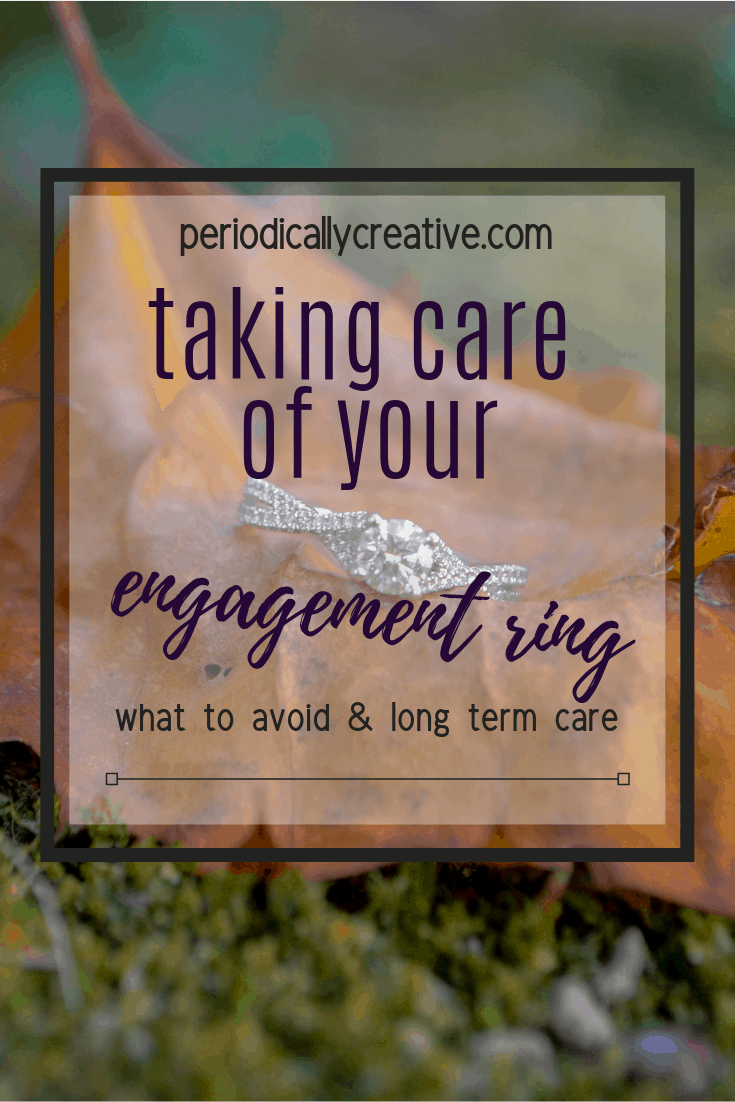 Taking proper care of your engagement ring is the best way to ensure that it always looks pristine and shiny. Learn what can harm your ring as well as how to care for it long term. #justengaged #engaged #engagement #engagementring