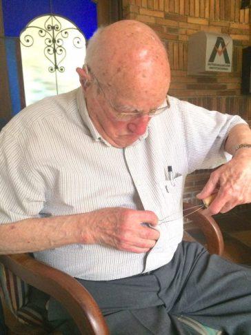 Rafael Kohanoff, de 91 años. Es ingeniero químico de la Universidad Nacional del Litoral Santa Fe, argentina. /FOTO XIOMARA MONTAÑEZ