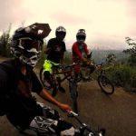 Deportistas Santandereanos aficionados por el descenso de montaña. Lugar, Rutas Unab. /FOTO SUMINISTRADA POR GABRIEL FRANCO