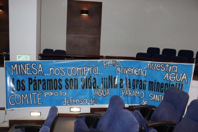 Comité para la defensa del Páramo de Santurbán. /FOTO POR EDUARDO MÁRQUEZ