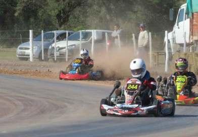 Podios para pilotos locales en la vuelta del Campeonato Provincial de Karting en Tierra