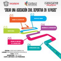 """Invitan al Curso """"Cómo Crear una Asociación Civil Deportiva en 16 Pasos"""""""