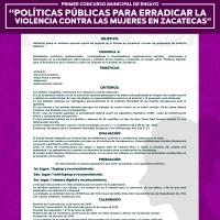 El Jueves cierra concurso de Ensayo para erradicar Violencia contra Mujeres