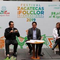 """""""De lujo"""" vienen China, Polonia y Rumania, entre otros al Festival Zacatecas del Folclor Internacional 2019"""