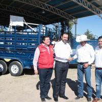 Pobladores de Gral. Francisco R. Murguía reciben apoyos gubernamentales