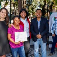 Pobladores de Susticacán son beneficiados con apoyos para Vivienda
