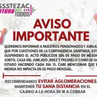 ISSSTEZAC suspende firma de Talón de Pago para pensionados y Jubilados, X Emergencia Sanitaria