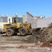 En Villas retiran escombro para evitar Inundaciones