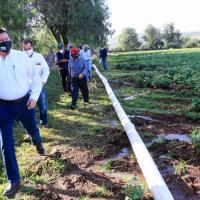 El Chique, Julián Adame y Chilitas, reciben tecnificación en Riego