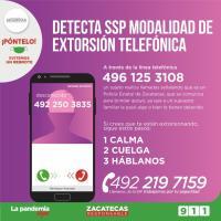 Cuidado!!! alertan sobre extorsión telefónica dicen ser Estatales y solicitan dinero