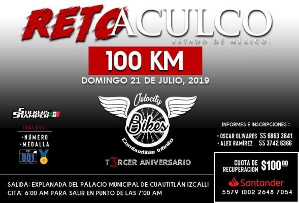 Promueven recorrido de cien kilómetros a Aculco