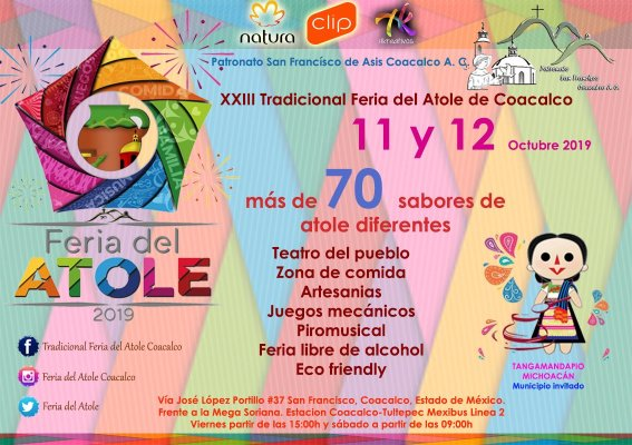 Feria del Atole y concierto de The Cure, aparta fechas en octubre