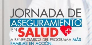 Mañana habrá jornada de aseguramiento en salud para beneficiarios de Más.. d783c3856c5