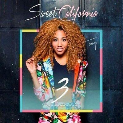 Tamara en la portada de uno de los discos de 'Sweet California'