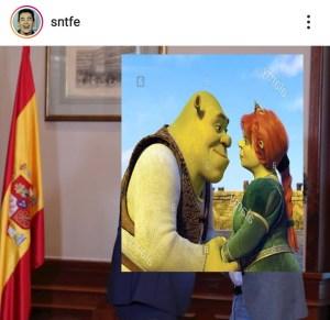 Meme. ¿Pedro y Pablo? ¿Shrek y Fiona?/@sntfe