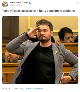 Meme. Pedro, Pablo y Betty/@enricmolina