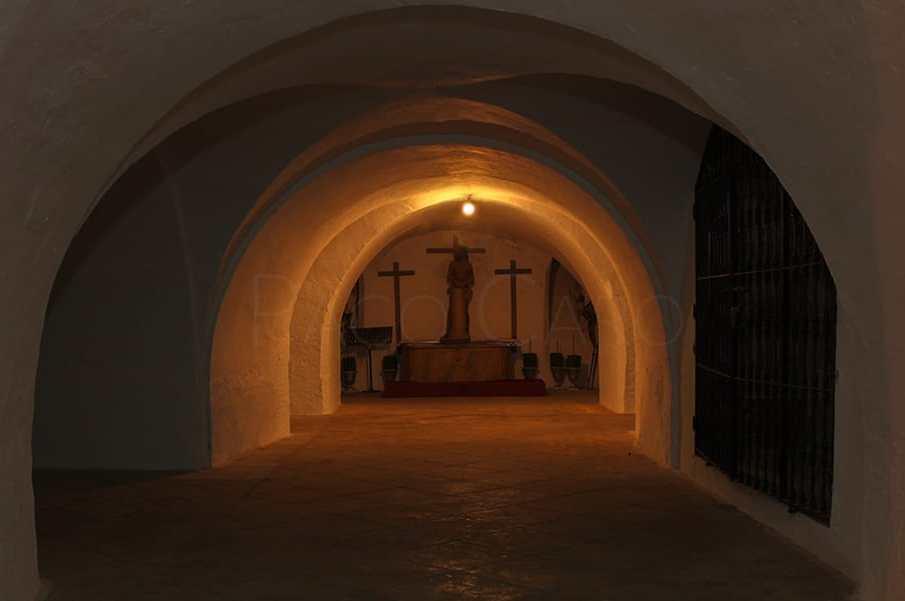 PACO CARO   Una de las capillas que se encontraban en el interior de las catacumbas.