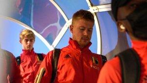La selección belga aterrizado en el aeropuerto de Turín | Fuente: Twitter de la selección belga de fútbol.